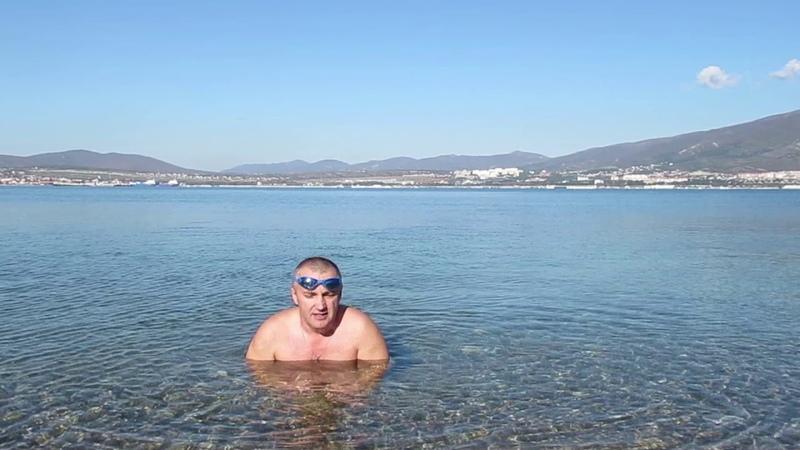 Штиль на Чёрном море, купаемся