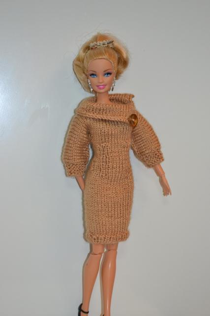 Схема вязания платья для Барби