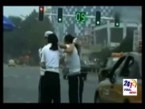 Two chinese police women fight in the street, Two female police officers hit each other in China
