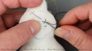 Primitive Stitching and Attaching Bead Eyes on Primitive Doll Patterns