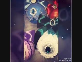 Новогодние эксклюзивные елочные шары ручной работы