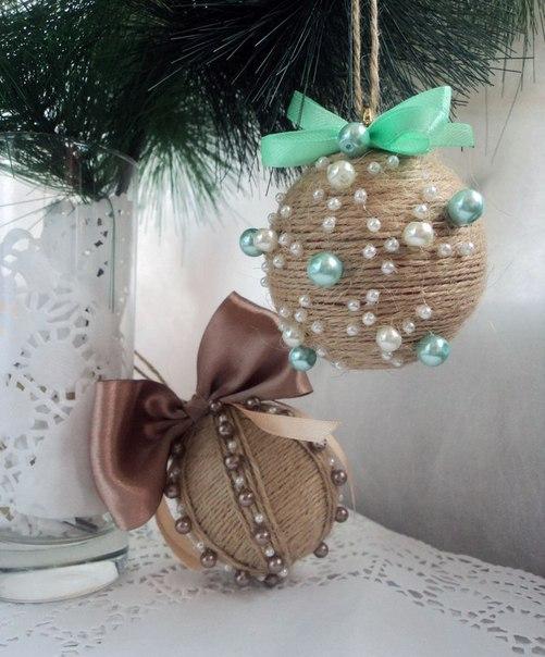 Шарики новогодние  декорировать