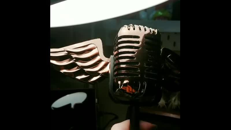 Jakurai's mic by @blackcats_t (Instagram)