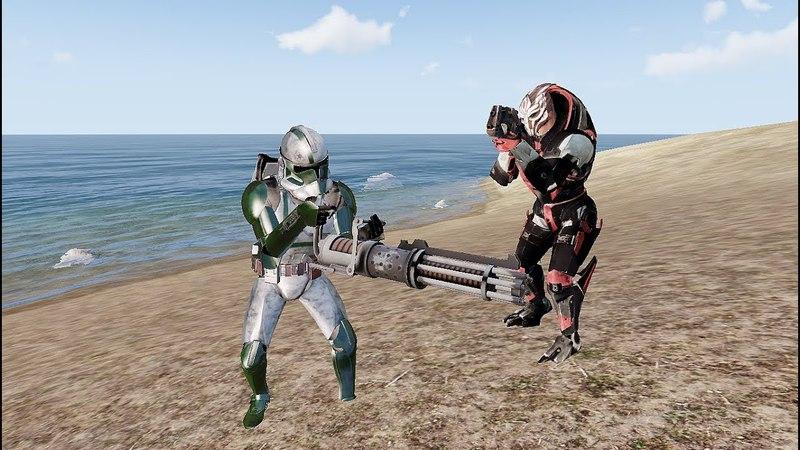 ArmA 3 Турианцы против клонов Star wars vs Mass effect