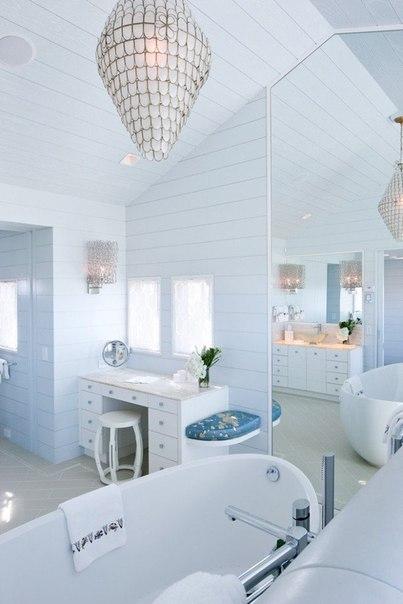Белоснежная ванная! Что может быть лучше?… (1 фото) - картинка