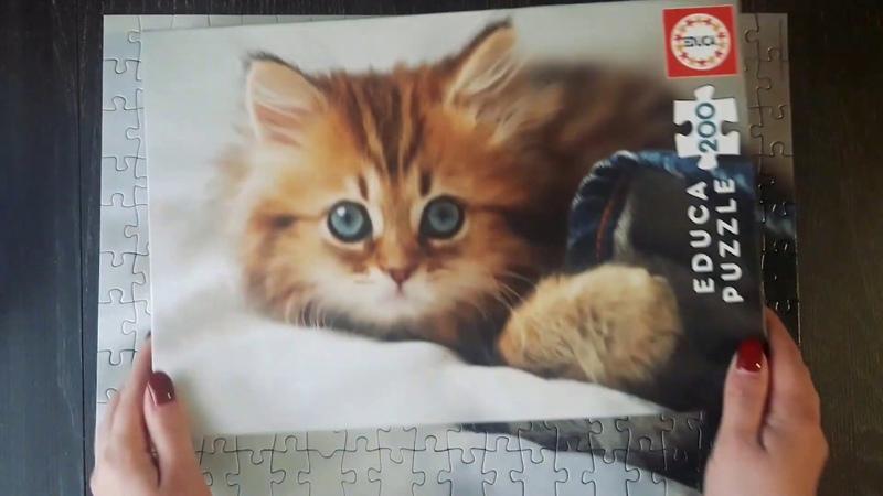 Educa Котёнок 200 деталей Jigsaw Puzzle Kitten Educa пазл с котёнком для детей