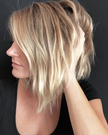 """Anh Co Tran on Instagram """"LINDSEY... New do with a SoftUndercut @extensionology! miami @curatedcutting lob bob anhcotran lorealprousambas..."""
