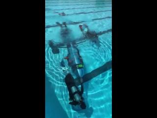 Testing underwater in LA pool