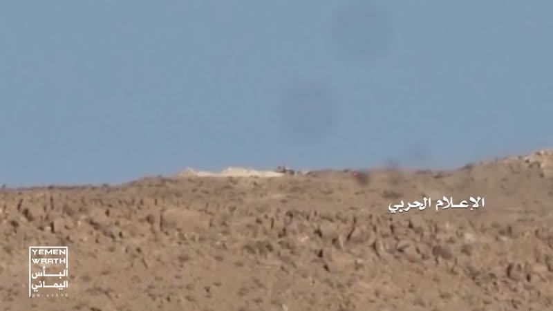 Хуситы ПТУРят технику хадистов в районе Нихм.