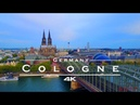 Cologne Köln Germany by drone 4K