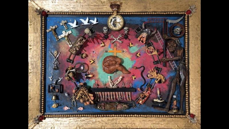Ассамбляж «АД» - это один из фрагментов триптиха Страсти по Иерониму Босху. Я обратился к творчеству великого, загадочного худ