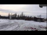 В Углегорске сгорела машина нацгвардии