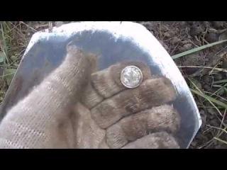 Поиск монет и предметов старины на огороде! Выпуск № 5.