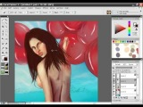 Bikini Babe Painter X painting tutorial with audio instructions Part 12/15
