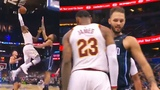 LeBron James Bumps into Evan Fournier After Dunking on Him!!! Cavaliers vs Magic