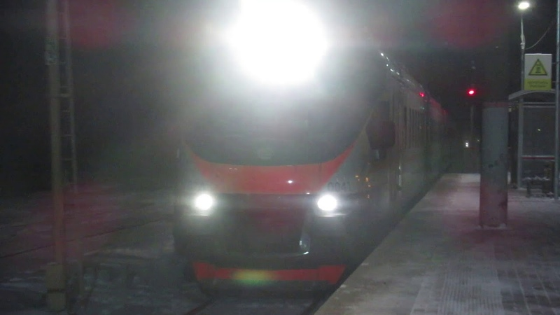 Электропоезд ЭП2Д 0041 ЦППК станция Бекасово 1 25 12 2018