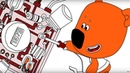 Раскраска Ми-ми-мишки Лучшее место в мире - Учим цвета - развивающие мультики серия 33