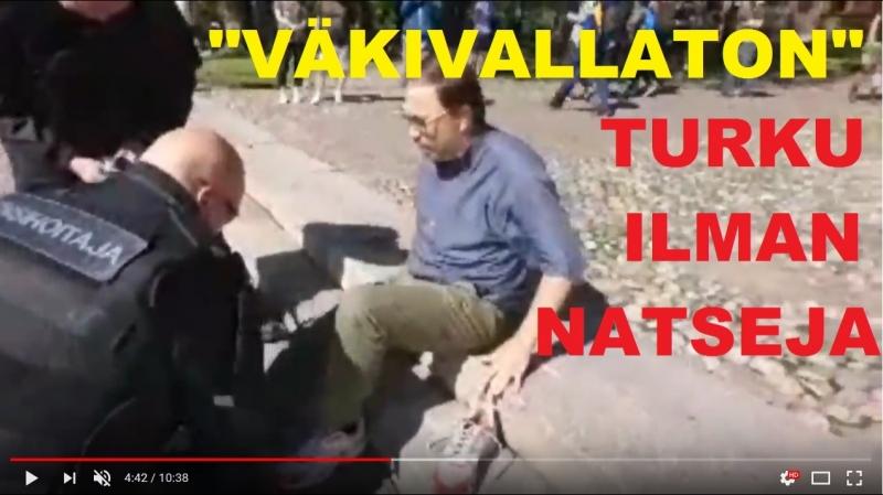 SKE 119. Muka väkivallaton Turku ilman natseja!