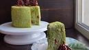 ШПИНАТНЫЙ МЕДОВИК с ягодным конфи🌿ВЕРТИКАЛЬНАЯ СБОРКА🌿Spinach cake recipe