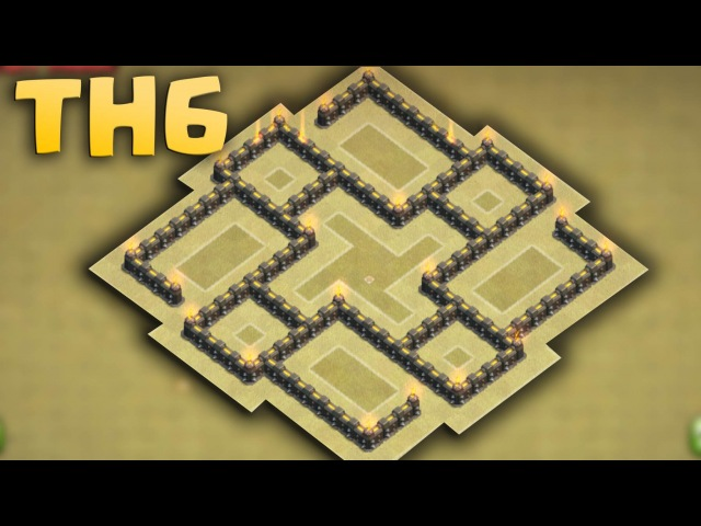 Clash of clans - Town Hall 6 (Th6) Best Clan War Base with 2 Air Defenses [Anti Air/Anti Giant] 2016