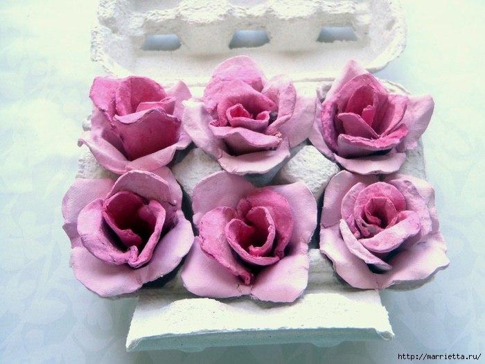 Цветы своими руками из упаковки от яиц своими руками 52