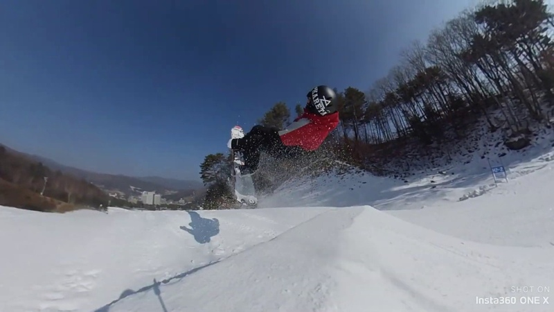 Insta360 ONE X - Tearing Up Korean Slopes