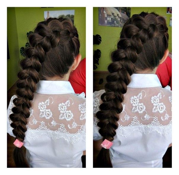 коса на длинных волосах!