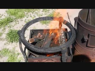 ШУРПА УЗБЕКСКАЯ НАСТОЯЩАЯ В КАЗАНЕ НА КОСТРЕ приготовление (1)