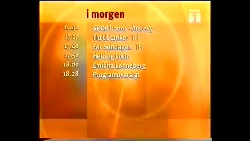 Программа передач и конец эфира (DR1 [Дания], 04.01.2002)