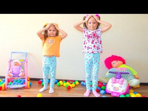 Head, Shoulders, Knees Toes Kids Nursery Rhymes Song for Children Family fun