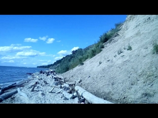 Дикий пляж на Обском море