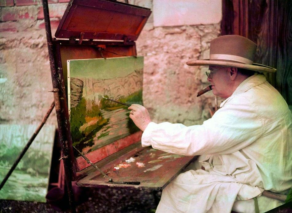черчилль рисует