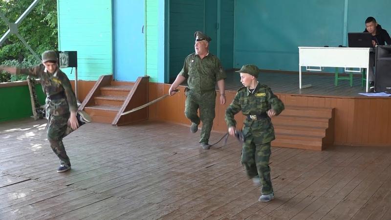 Концерт на День России - Упражнения с нагайкой и шашками