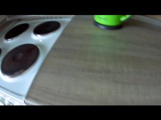 Обзор кухни. Материал: ЛДСП  Egger белый глянец, Киви.