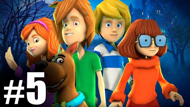 5 Обзор и летсплей по игре Скуби Ду Зловещий замок Letsplay game Scooby Doo First Frights