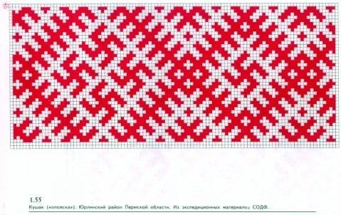 На фото: схемы узоров