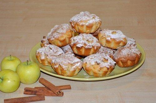 Сочные яблочные кексы (5 фото) - картинка