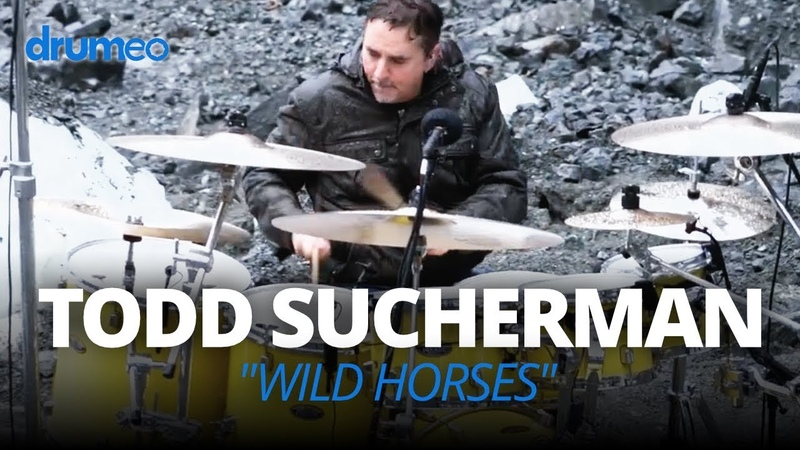 Todd Sucherman Playing Drums ON A MOUNTAIN (Wild Horses by Neil Zaza)