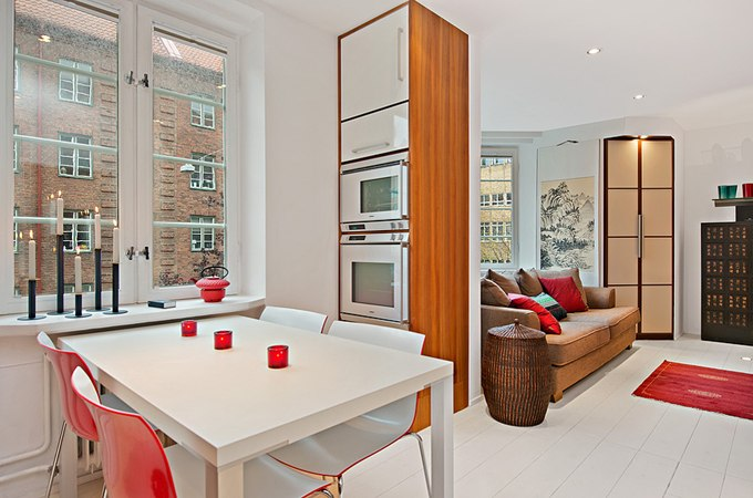Дизайн квартиры-студии 35 м в Мальмё / Швеция в восточном стиле - http://kvartirastudio.