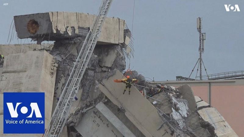 Dozens killed in motorway bridge collapse in Genoa Italy смотреть онлайн без регистрации