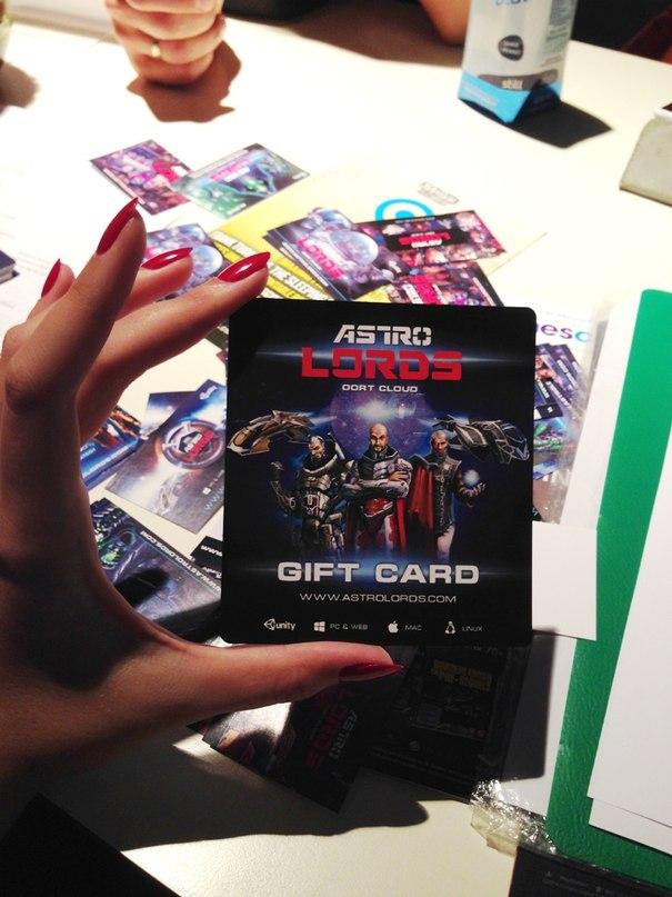 Astro Lords gift карта с промокодом на gamescom
