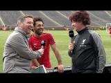 Fowler surprises Salah as the Reds train in 'The Big House', Michigan