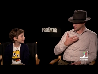 Boyd Holbrook and Jacob Tremblay THE PREDATOR Interview for TIFF 2018