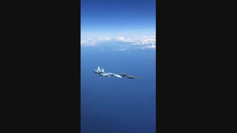 Российский пилот избегает самолета НАТО сблизившегося с российским самолетом на борту которого находился член правительства в