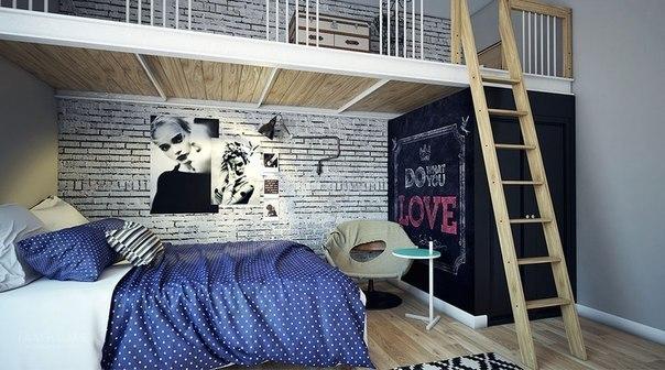 Современная детская комната девочки-подростка от питерской студии дизайна...