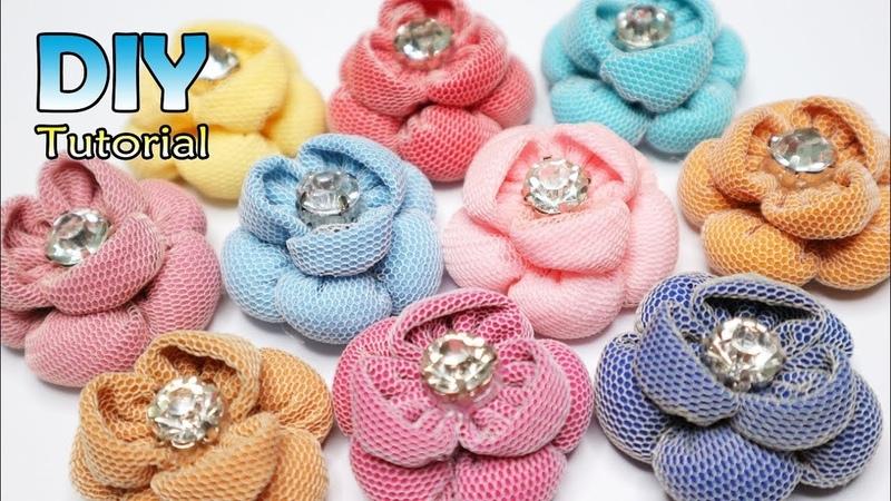 DIY || Cara Membuat Bunga Gembul Menul Cantik Kain Perca | Tutorial Fabric Flower | Souvenir