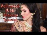 Bollywood Bride Makeup Tutorial! How To Create A Red & Gold Desi/Indian Look!