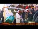 Berguzar Korel Halit Ergenc Erkan Petekaya in funeral of Yelda Kahvecioğlu