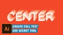 Use secret tool in illustrator and create cool 3d text effect blend tool trick typography
