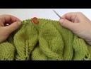 Зеленый свитер с листьями на ветке МК 4